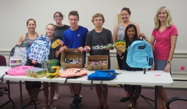 Pack a Backpack volunteers