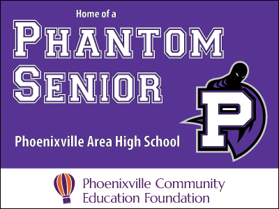 Phoenixville Area High School Senior Yard Sign