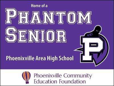 Phoenixville Area High School Senior Yard Sign